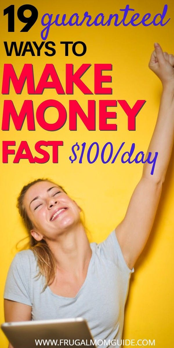 19 Easy Ways to Make Money Fast Today | Way to make money ...