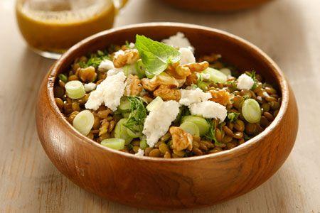 Σαλάτα με φακές, μυζήθρα και μυρωδικά - Συνταγές   γαστρονόμος