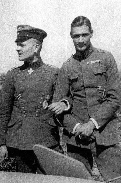 Manfred von Richthofen and Fritz von Falkenhayn.