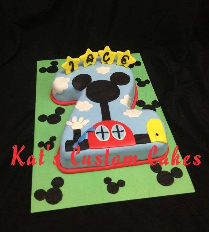 Mickey Mouse Clubhouse Number 2 Cake Boys Birthday Cakes