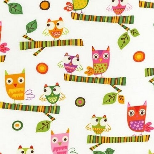 234 best pattern owls images on pinterest owls owl for Retro baby fabric