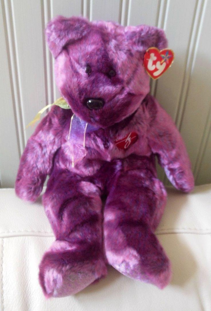 "TY TEDDY BEAR  Plush Beanie Buddies 2000 SIGNATURE Large MWT 1999 14"" Tall."