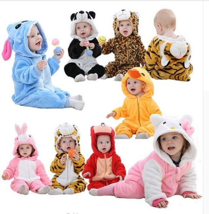 Baby Boy Girl Halloween Panda Fancy Party Costume WARM Outfit Clothes Cosplay