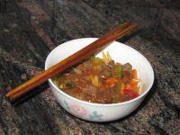 Ternera Chop suey picante, tradicional