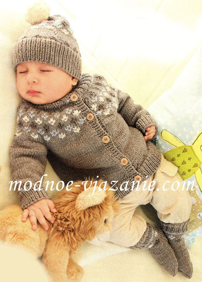 Вязание для малышей. Вязание спицами | Вязаные шапки ...