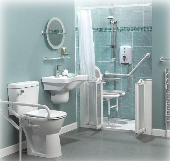 111 best wet rooms for the disabled images on pinterest for Disabled wet room bathroom design