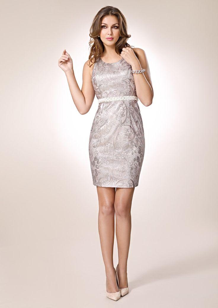 ZEILA COCKTAIL 9308  Vestido de fiesta corto en tejido de fantasía con lentejuela