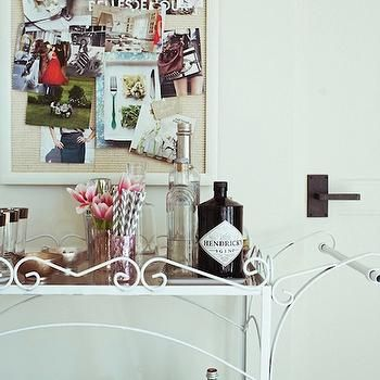 Vintage Bar Cart, Vintage, kitchen, Restoration Hardware Mediterranean White 3, Design Sponge