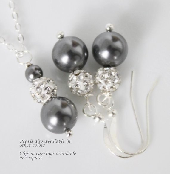 Pandora Grey Pearl Earrings: 1000+ Ideas About Bridesmaid Jewelry Sets On Pinterest