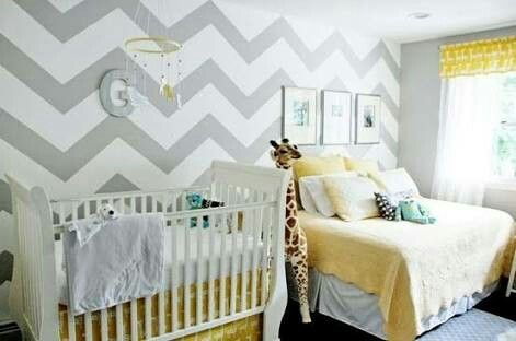 Baby and parent room. Nice idea when adding a new member. Keep it chic and yet sweet
