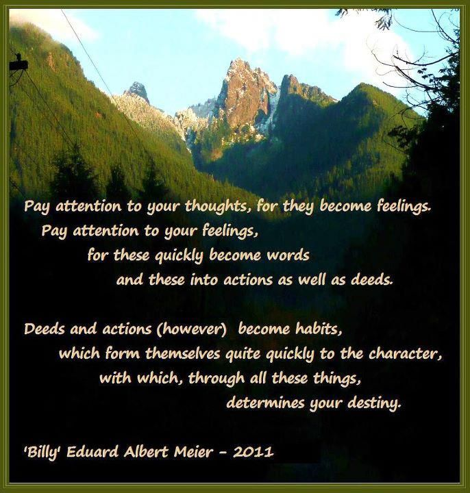 "WORDS OF WISDOM OF  PROPHET ""BILLY"" EDUARD ALBER MEIER !!!!"