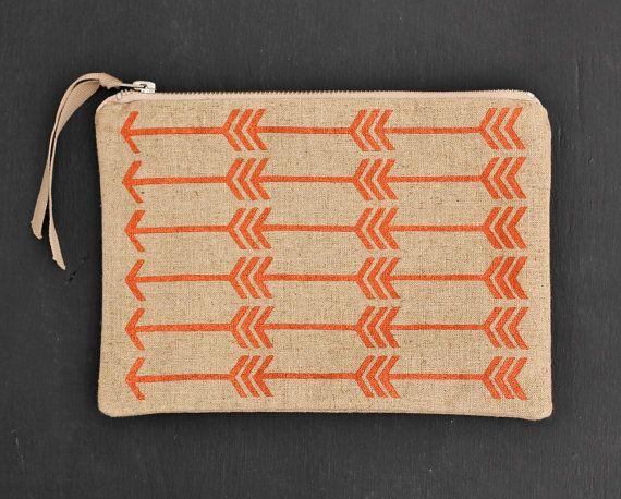 Feather arrow pouch in metallic copper - doabit