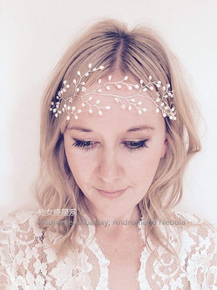 Китайский свадебной фотографии ювелирных изделий волос кристаллическая перла розеткой оголовье волос группа волос кольцо оригинальные невесты невесты головной убор - Taobao