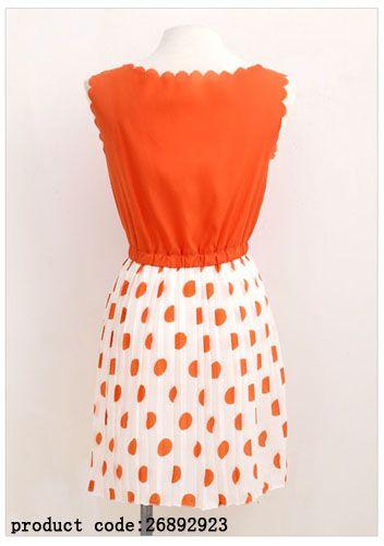 Оранжевое платье с белой юбкой в оранжевый горошек. Стоимость товара: 529 руб. Материал полиэстер Производство Китай Размер только один Размер длина:76см      Обхват груди:80см    Талия:58см   Ширина плеч 37см            Таможенное название: Женское платьеСтруктура: WeavingМатериал: хлопок 30%:70%полиэстерКод ТН ВЭД: 6204499093         0.220 (кг)   . Срок доставки от 12 до 18 дней.