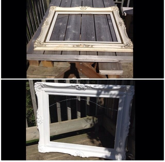 Old frame- before and after. Still a work in progress!