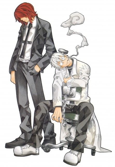 Spirit and Dr. Stein. Besides Death the Kid, they're the only things that make the show worth watching.
