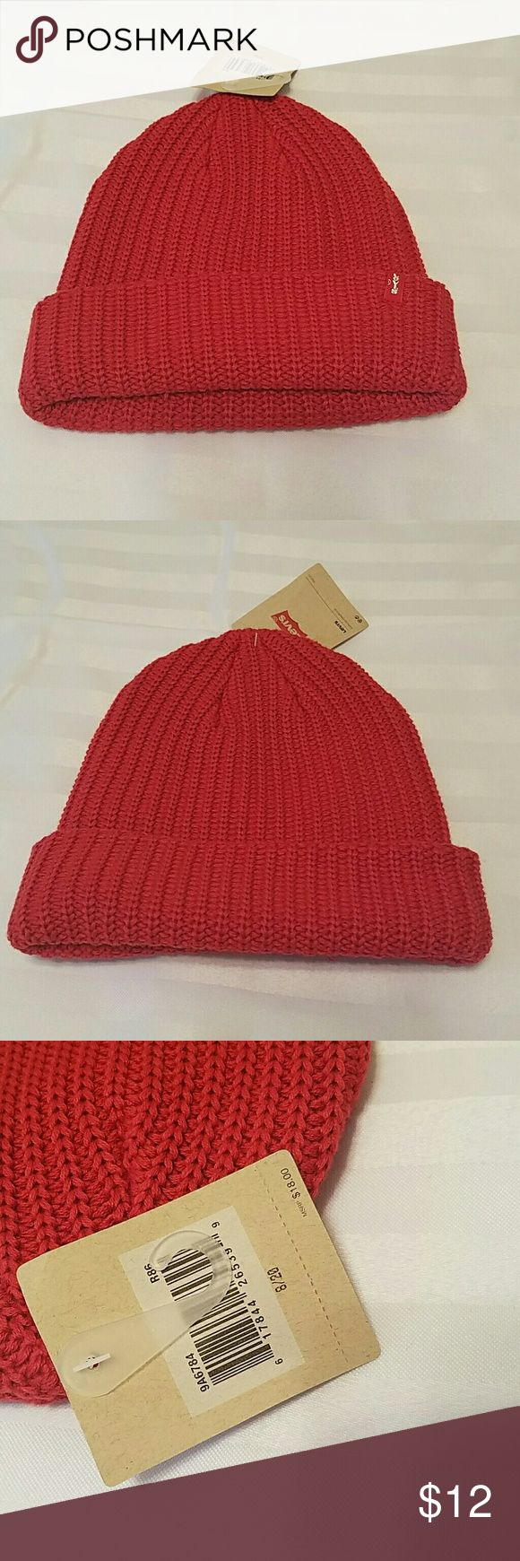 Youth Levi's Beanie. Size 8 to 20. NWT. Stretch Boys Levi's Beanie Size 8 to 20 NWT Red Stretch Fit  I will Accept Reasonable Offers Levi's Accessories Hats
