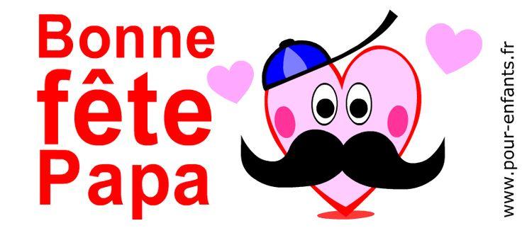 Fête des pères 2016 Dessin de coeur d'amour à imprimer pour FETER les papas moustachus Bonne fête aux papas à moustaches