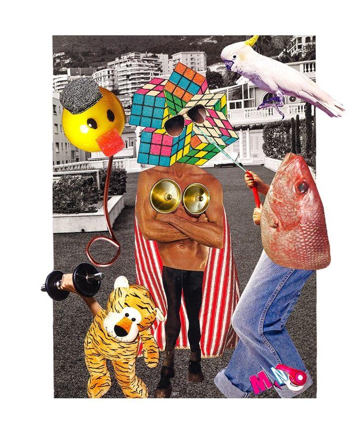 Animal Planet ✂️23x28,5cm Analog collage by Mihaela Nastase