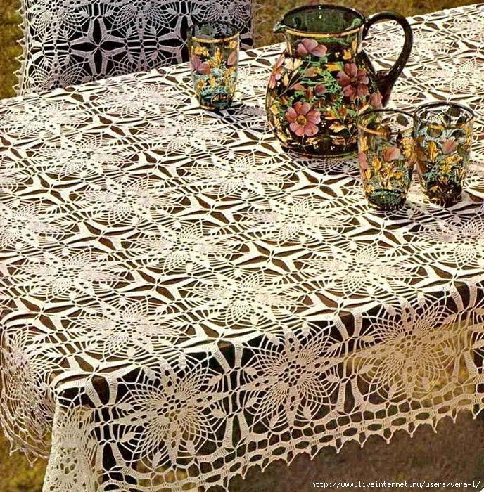 Materiales gráficos Gaby: Manteles en crochet varios modelos