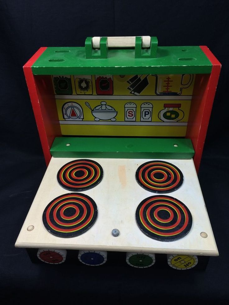 Fold Away Portable Children's Wooden Kitchen #HSL