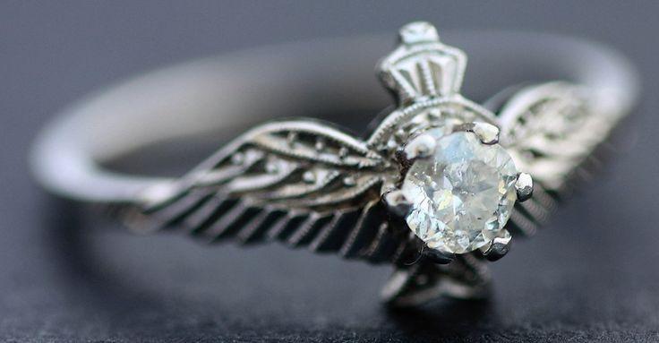 1940's Platinum and Diamond Sweet Heart Ring