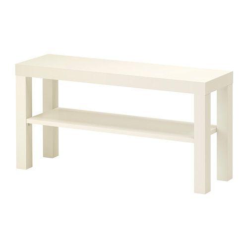 IKEA - LACK, Tv-meubel, wit, , Door de opening aan de achterkant houd je alle snoeren netjes bij elkaar.