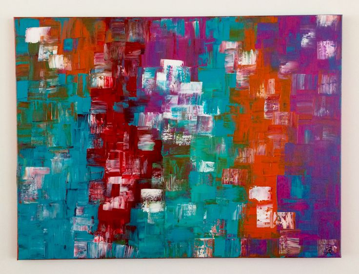Grid1: Abstract acrylic painting by Bego Ayala