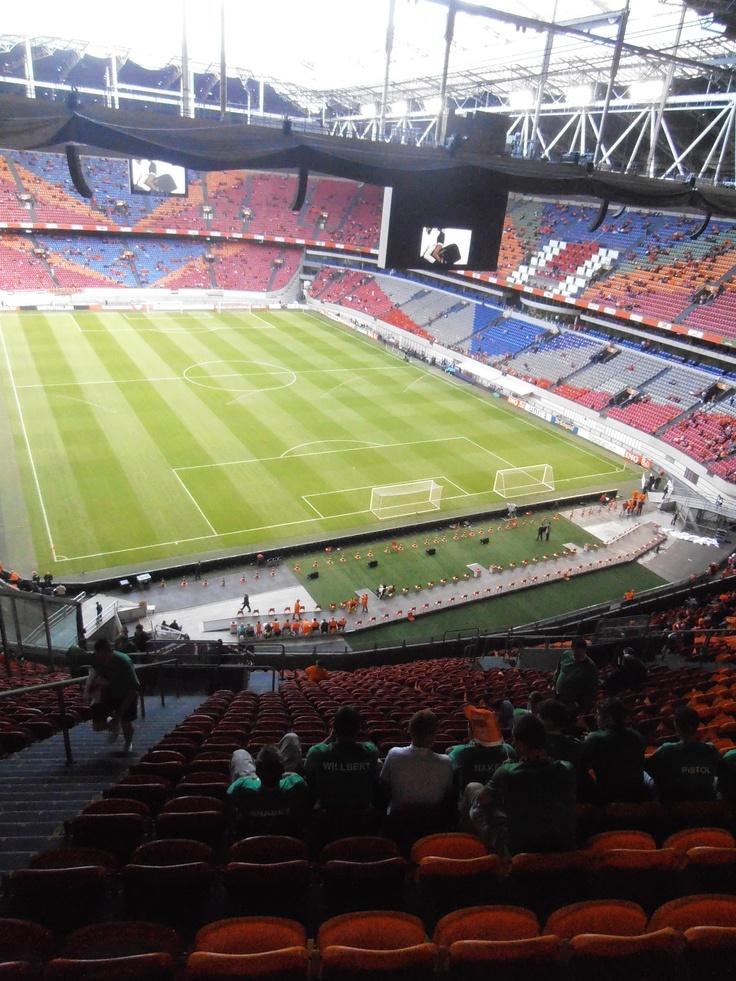 Een wedstrijd meepakken in de Amsterdam Arena http://www.amsterdamarena.nl/home.htm