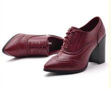 Женские насосы! Новые 2014 женщин весной обувь на высоких каблуках одной обуви толстый каблук туфли черные туфли на высоком каблуке (Китай (материк))