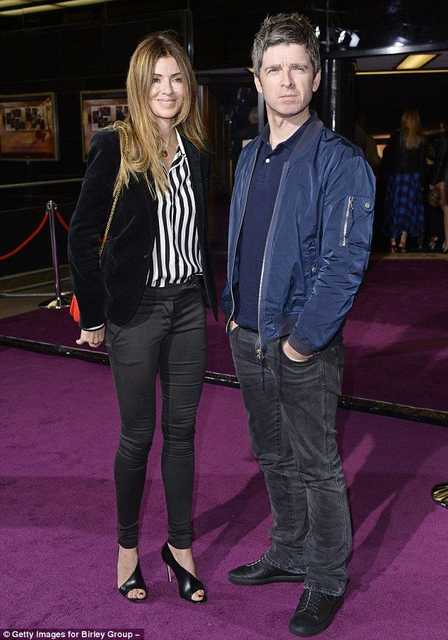 Casual couple: Unlike Poppy, Noel Gallagher and his wife Sarah Macdonald opted for laid-ba...