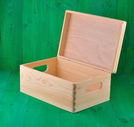 Unfinished Wood Box Wooden Chest Decoupage Box Unpainted Wood Box Home Decor Box Scandinavian Style Decoupage Supplies Diy Box Decoupage I Skrzynki