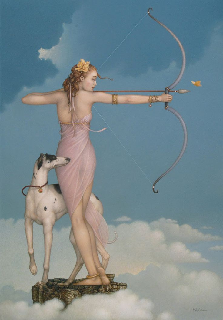"""Butterfly Effect By Michael Parkes """"Diana, Goddess of the Hunt"""""""