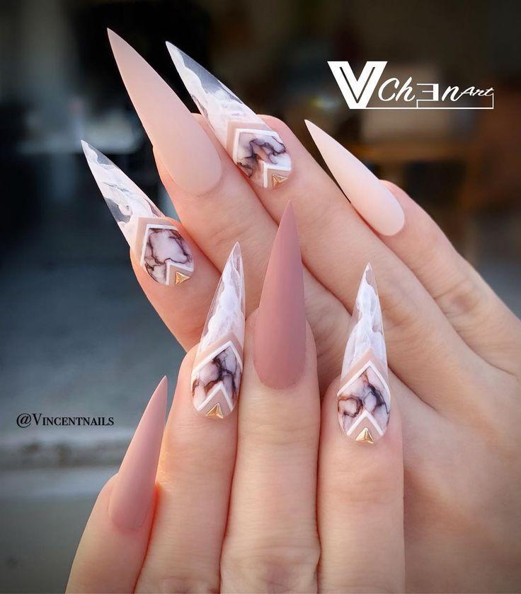 """VinChen Tran auf Instagram: """"Smokey marble ….. Welches bevorzugen Sie? Smokey …   – nails"""