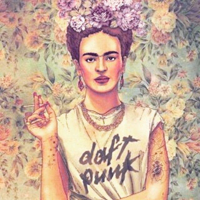 Frida Kahlo design vs Daf punk