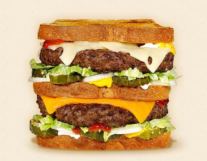 The Lumberjack   WI Cheddar & Swiss Burgers