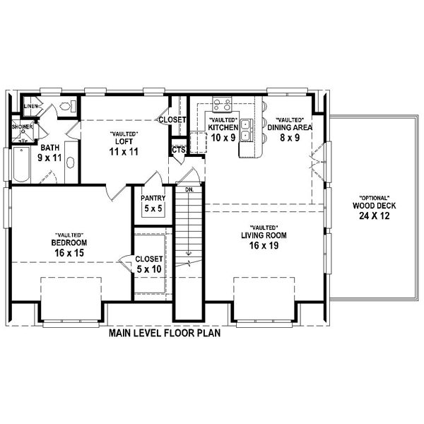 Over 1200 sq ft not sure what the loft is about garage for Apartment plans 1200 sq ft