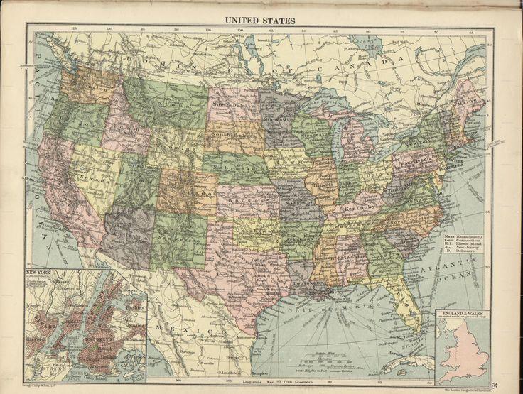 Londongeographicalinstitutethepeoplesatlassouthamerica - 1920 us map