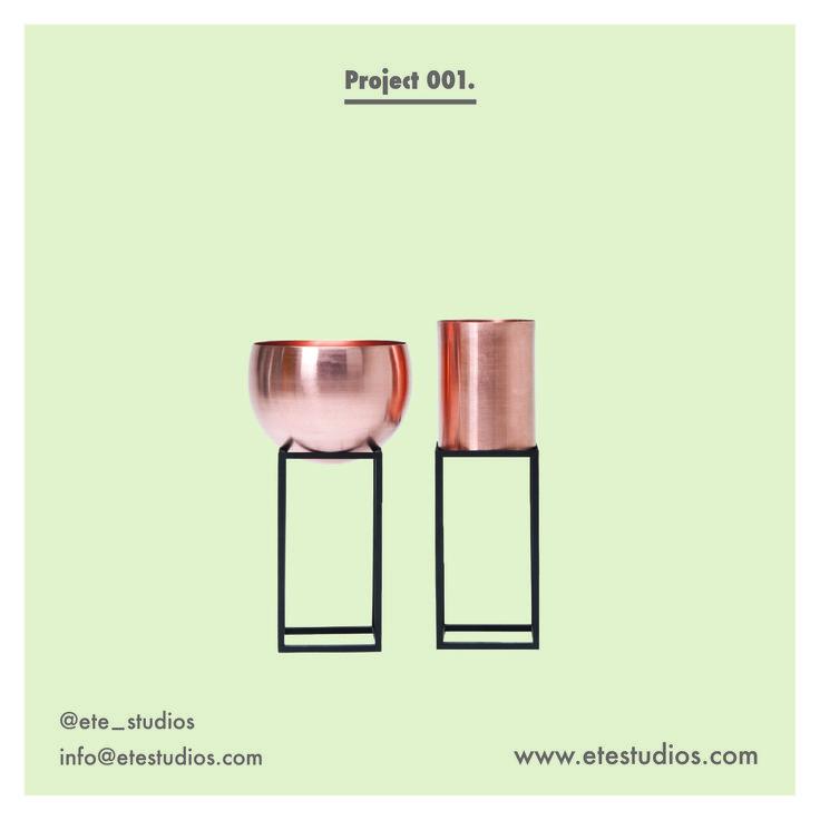 Project 001  #etestudios #pot #copper #plantstands #planters #productdesign