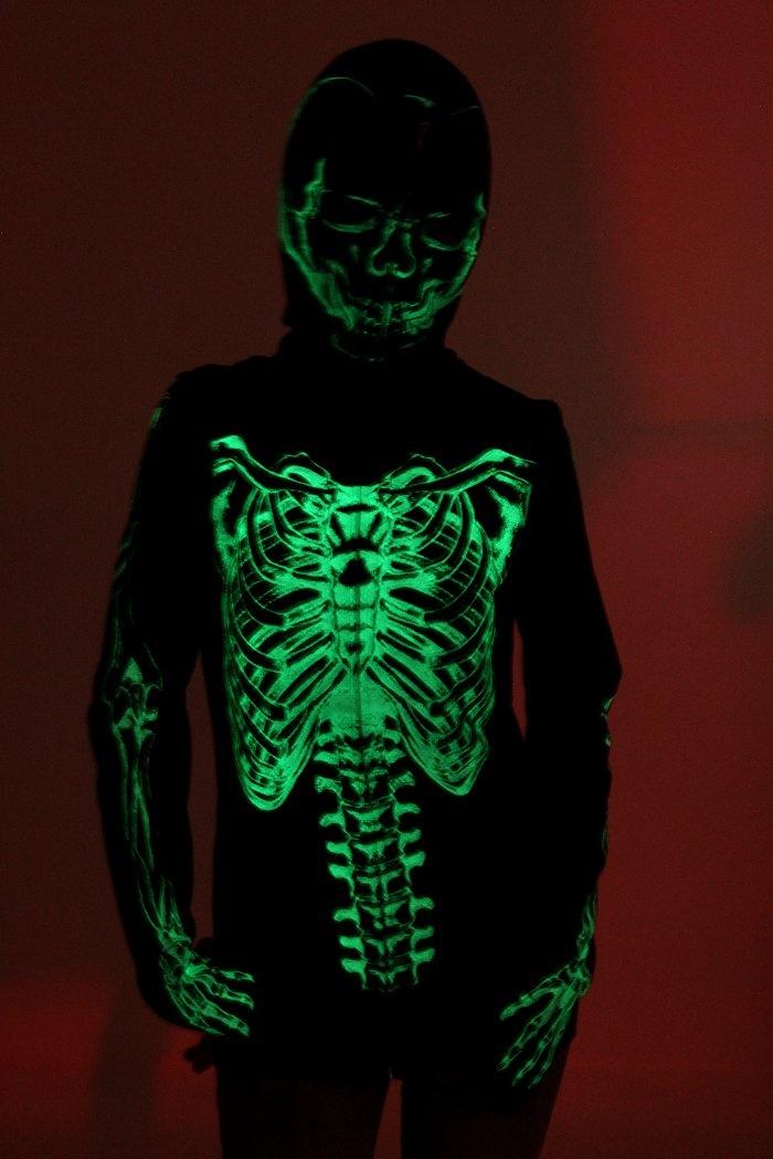 Glow in the dark skeleton hoodie