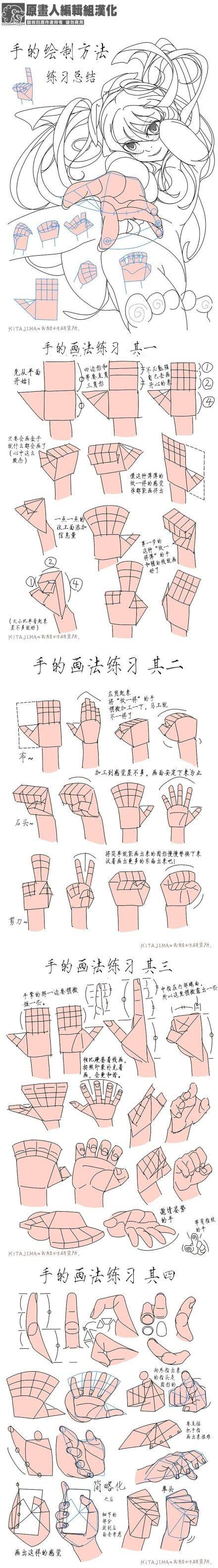 Как рисовать руки.