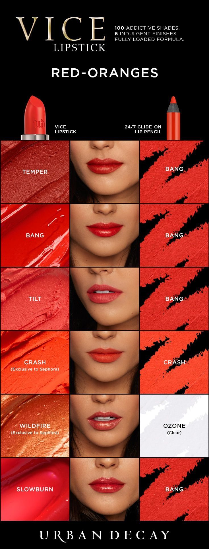 URBAN DECAY Vice Lipsticks - Oranges