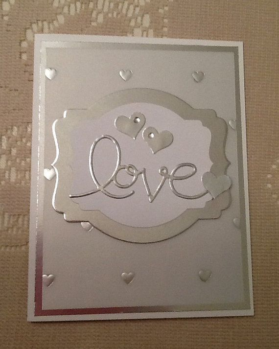 Wedding card Anniversary card hand stamped by Inked2perfection