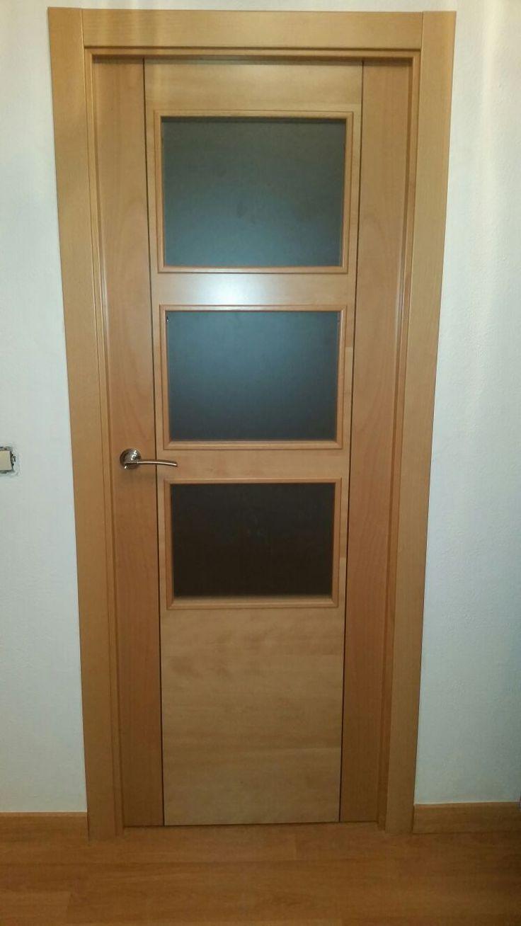 88 best puertas madera natural images on pinterest - Puertas de madera con cristal ...