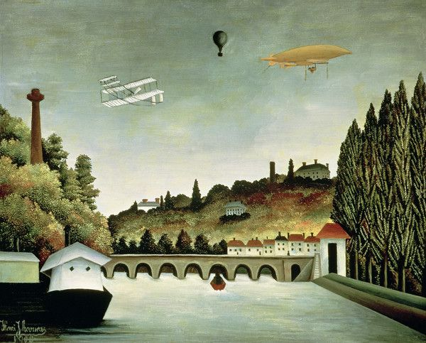 View of the Bridge at Sevres and the Hills at Clamart, St. Cloud and Bellevue by Henri Rousseau from Pushkin Museum of Fine Arts