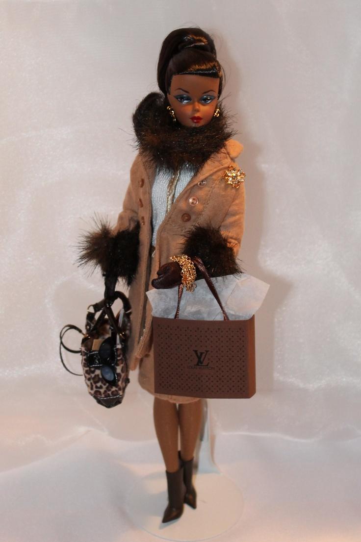 Silkstone Barbie- 1959 Debut Barbie wearing Spotted Shopping ensemble