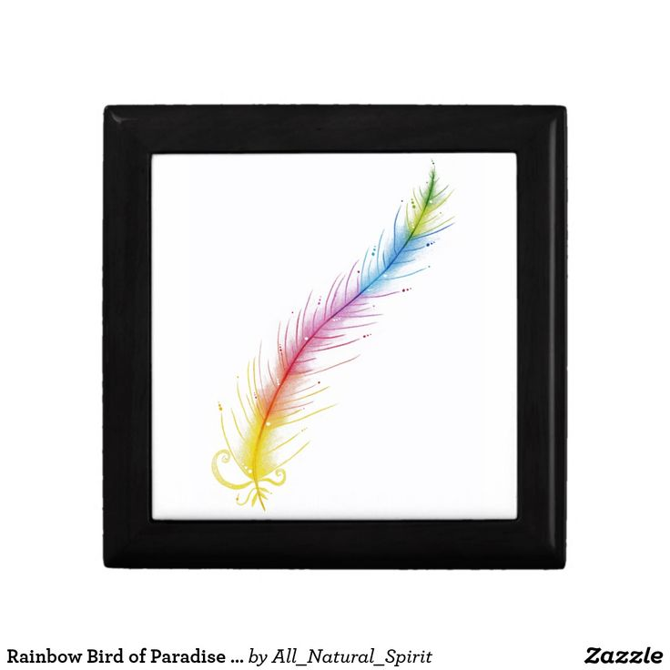 Set Your Spirit Free with this Rainbow Bird of Paradise Feather Keepsake Box! Make It Yours @ https://www.zazzle.com/z/yn90t?rf=238562247198752459 #Fashion #Style #Rainbow #Art #colourpencilart #JewelryBoxes #KeepsakeBoxes #Zazzle #AllNaturalSpirit Visit our blog @ allnaturalspirit.wordpress.com