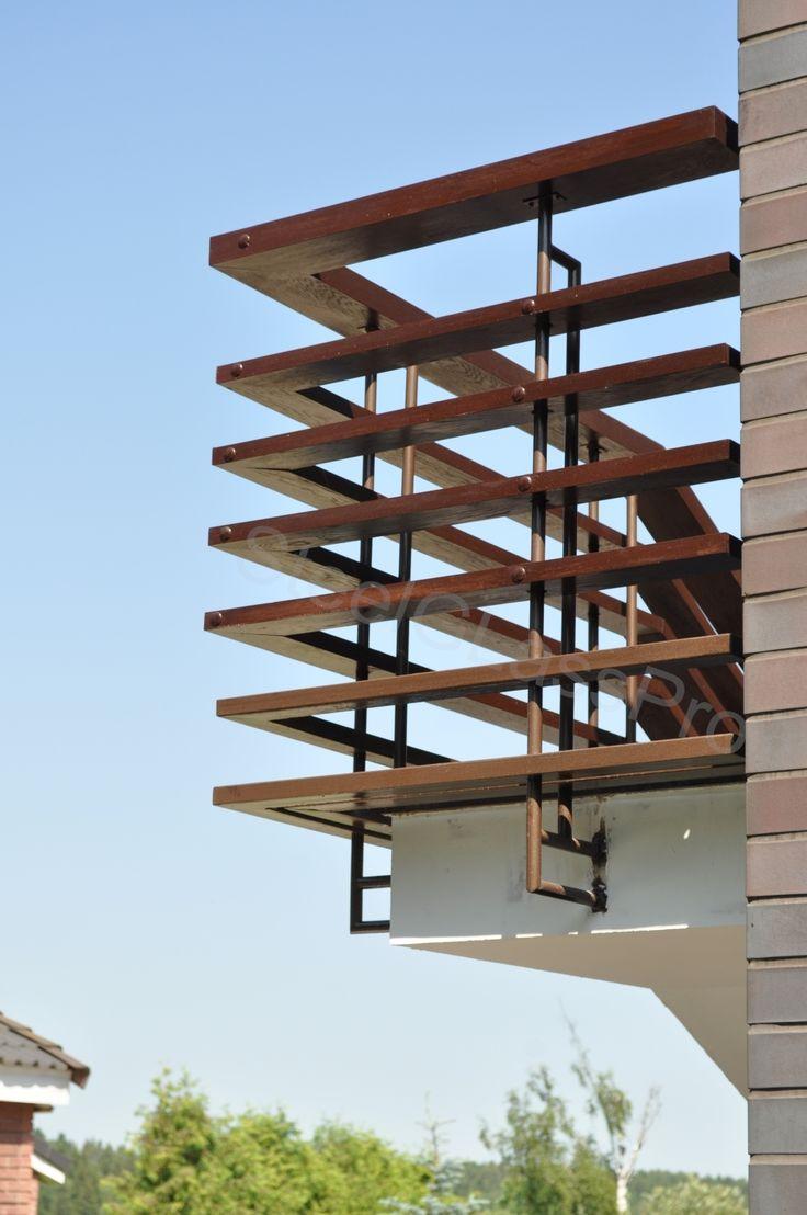 ограждение балконов из дерева и металла - Поиск в Google