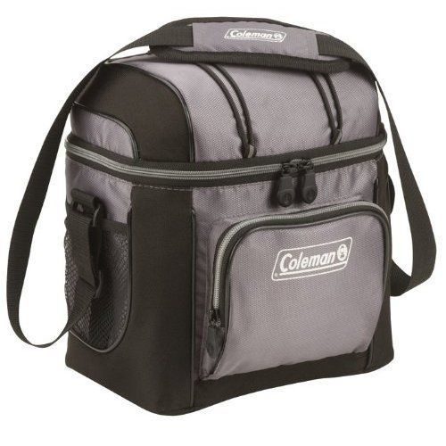 Small Cooler Bag Thermal Insulated Soft Sided Portable Outdoor Picnic Beach Gray #Coleman