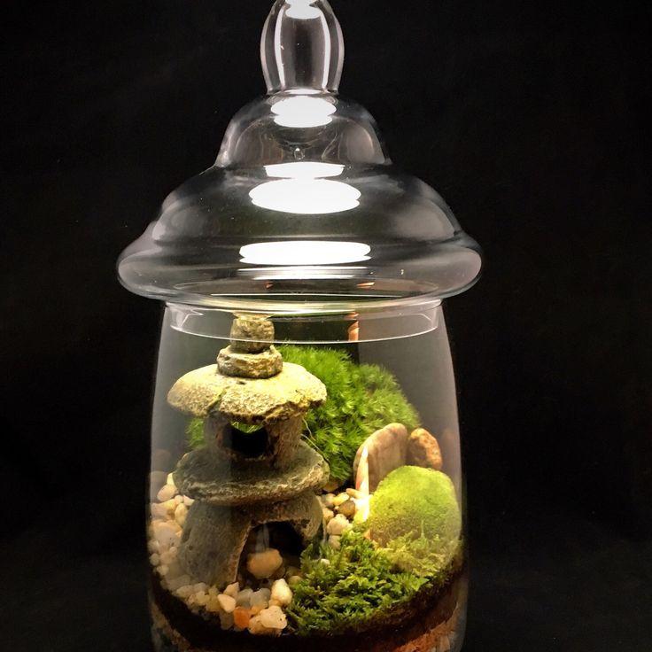 Custom Japanese Garden Terrarium With Miniature By DoodleBirdie